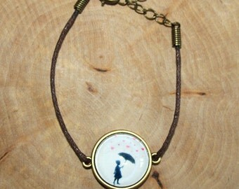 "Cabochon bracelet ""Heart rain"" 20 mm"