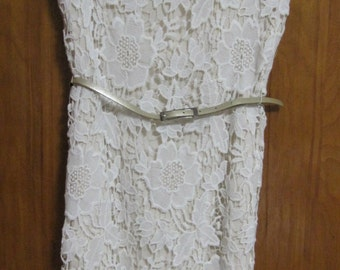 Brocade Lace Dress, Luxology, Capped Sleeves, Fully lined, Size 4