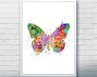Butterfly Watercolor Art Print - Butterfly Watercolor Art Painting - Butterfly Poster - Home Decor - House Warming Gift [1]