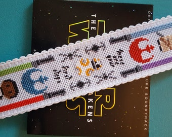 Star Wars Cross Stitch Pattern Only, Force Awakens Modern Counted Cross Stitch Chart, PDF Format, Instant Download