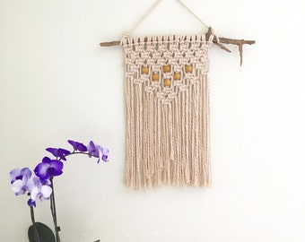 Beaded Macrame Wall Hanging