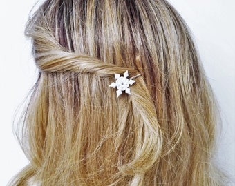 Snowflake Hair Pick, Snowflake Hair Pin Bobby pin