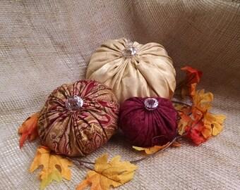 Fabric Pumpkins, Harvest Thanksgiving Decor, Pumpkin Decor, Thanksgiving Pumpkin, Harvest Pumpkin, Stuffed Pumpkin, Plush Pumpkin