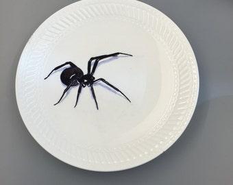 Hand Drawn Spider Plate