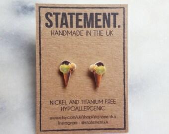 Ice Cream Stud Earrings - 1 pair