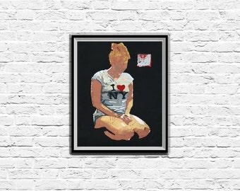 New York Print, Acrylic Art, Modern Art Print, Home Decor, Woman Painting, Contemporary Art Print, Original Painting, Wall Art Print