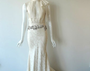 Original Vintage -  Glamorous 70's Wedding Dress - Teresa
