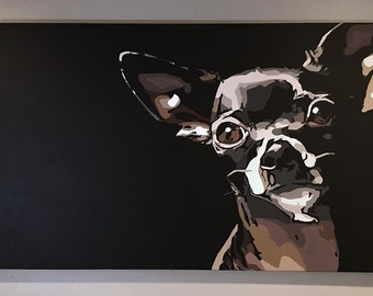 Original Chihuahua Portrait in Acrylic