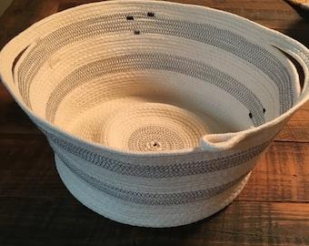 Large Coiled Clothesline Basket