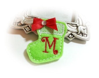 Stocking Dog Bow, Christmas Stocking Bow, Holiday Dog Bow, Christmas Pet Bow, Christmas Stocking, Holiday Grooming Bow