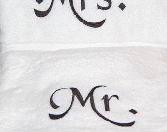 Mr. and Mrs. bath towels