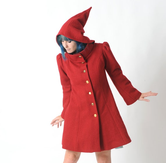 The story the Red Riding Hood revolves around a girl named after the red hooded cape/cloak (in Perrault's fairytale) or a simple cap (in the Grimms' version called Little Red-Cap) she wears.