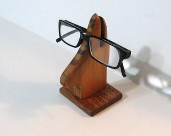 Eyeglass Holder Made Of Bamboo And Mahogany Woods