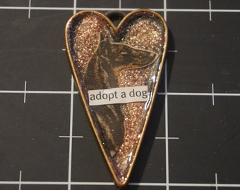 "Doberman Pendant, ""Adopt a Dog"", 50% goes to the current focus animal charity"