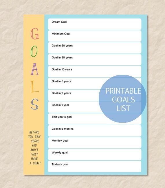 list of career goals