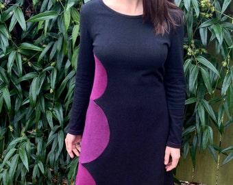 Hand Crafted Hemp Dress, Space Zinnia, One of a Kind, New Dress Challenge