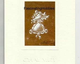 1993 -Cardboard Invitation -Mint DEBEERS & CHAUMET- for the opening of the Exhibition in their Showroom - PARIS, Place Vendôme, Lovers Rings