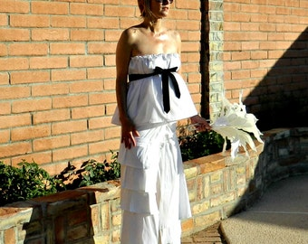 Maternity 30s Wedding Dress-40s Wedding Dress-50s Wedding Dress-Bride Clothes-Rochelle One of a Kind Layered-Ruffled Taffeta Wrap Skirt