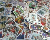 25 British Christmas Stamps GB Postage Stamps on Paper  Christmas Thematic Mix for Decoupage Collage Crafts  Used GB Postal Stamps