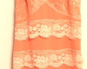 Altered vintage slip dress