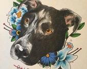Custom Tattoo Pet Portrait