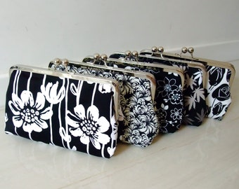 BIG SALE - Set of 5 - Bridemaid gift / Wedding gift / Christmas gift / Large clutch purse (CL-G1)