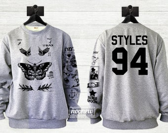 Harry Styles Tattoo Sweatshirt Sweater Crew Neck Shirt ADD STYLES 94 in Back– Size S M L XL