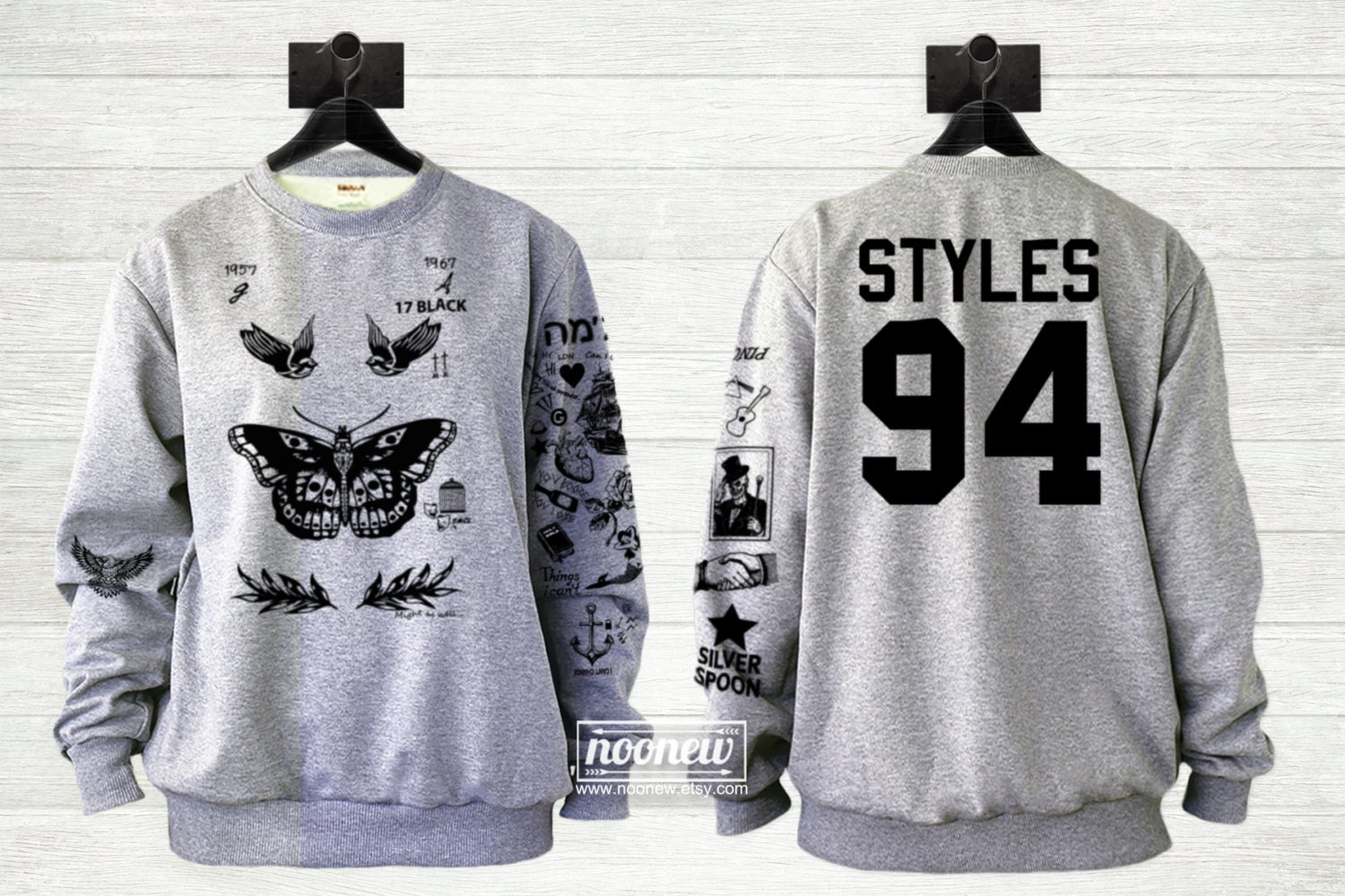 harry styles tattoo sweatshirt sweater crew neck shirt add