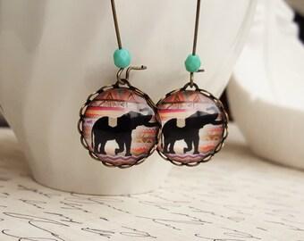 Boho Elephant Earrings. Gift for her under 25 usd