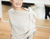 Beige sweater   Minimal sweater    Loose fit sweater   LeMuse beige sweater