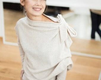 Beige sweater | Minimal sweater |  Loose fit sweater | LeMuse beige sweater
