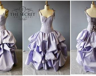 purple wedding gown-fantasy wedding dress-bustle gown-coutre-denver-alternative wedding gown-the secret boutique-gothic-steampunk-fairy-dres