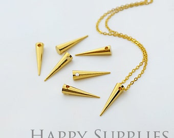 5 pcs Nickel Free -High Quality Golden/Silver/Rose Gold Drop Charm / Pendant With 1 hole  (ZG212)