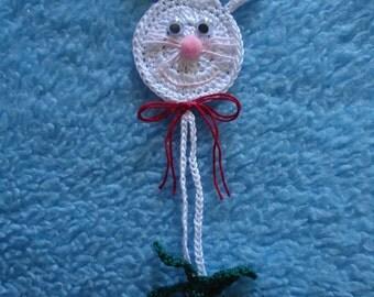 Crochet Bonnie Bookmark Doily