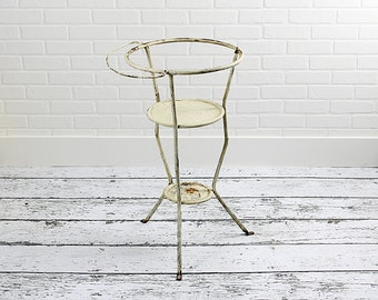 SALE - Vintage Metal Washstand - c. 1930s
