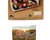 Vintage 80's Needlepoint Kit, Eyeglass Case Kit, Jiffy Needlepoint Kit,  Specs Eyeglass Case, Sunset Designs, Needlework Kit, Stitching Kit