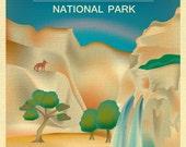 Grand Canyon Poster, National Park Art, Arizona Print, Grand Canyon skyline, Grand Canyon map, Arizona Art Gift, Art - style E8-O-GR-CAN