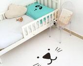 Cat Kids Rug / Monochrome Kids Room / PVC Rug / Kids Decor / Decorative Floor Rug / Kids Mat / Minimal Nursery / Unisex Toddler Room