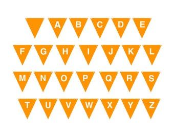 SVG Alphabet Banner, SVG Monogram Banner, SVG Cutting File, Commercial Use, Instant Download, BN03
