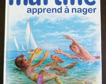 Vintage French Children's Book - Martine Apprend à Nager by Gilbert Delahaye & Marcel Marlier (1975)