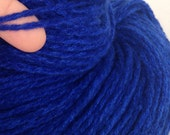 Riverside Blue, Pure cashmere yarn, up-cycled cashmere sweater, cashmere yarn 100 yds worsted weight Blue tweed