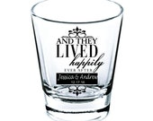 Wedding Shot Glasses - Wedding Favors - Shot Glasses - Second Side Free - Bachelorette Party - and they lived - Custom Shot Glasses