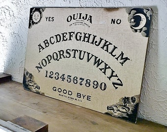 Fuld Ouija Board Rare Parquet Paper Design Baltimore MD Large 15 X 22 Size Antique Game Board The Mystifying Oracle Vintage Talking Board