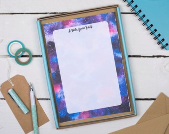 Letter Writing Set - Writing Paper - Gift for Him - Gift for Her - Letter Writing Paper Sets - Galaxy Writing Paper Kit - Galaxy Letter set