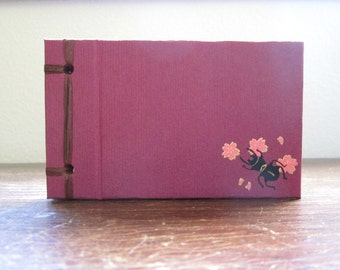 Mini Pasimachus Beetle Book - Sakura or Maple - Side Bound Hardcover Handmade Blank Book