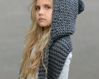 Knitting Pattern Child Infinity Scarf : KNITTING PATTERN Failynn Fox Cowl 12/18 months Toddler