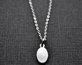 Sterling Silver Oval . Layering Necklace