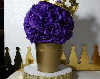 purple and gold baby shower table centerpiece purple gold royal baby