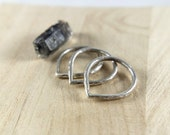 Silver Tear Stacker - Thick Hammered Sterling Silver Pointed Stacking Ring