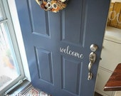 welcome Decal - Vinyl Decal for your Front Door - Welcome Vinyl Lettering Entry Way or Porch Decal